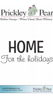Home for the Holidays - Red Rubber Stamp