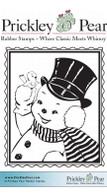 Snowman Postage - Red Rubber Stamp