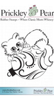 Ornamental Kitty- Red Rubber Stamp