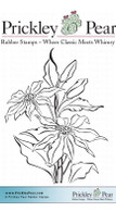 Poinsettia Bunch - Red Rubber Stamp