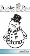 Happy Snowman - Red Rubber Stamp