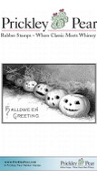 Halloween Greeting - Red Rubber Stamp