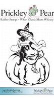 Witch on Pumpkin - Red Rubber Stamp