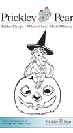 Sweet Vintage Witch - Red Rubber Stamp