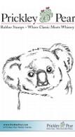 Koala - Red Rubber Stamp