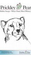 Cheetah - Red Rubber Stamp