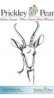 Gazelle - Red Rubber Stamp