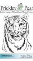 Tiger - Red Rubber Stamp