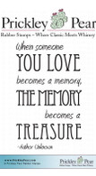 Memory Becomes a Treasure - Red Rubber Stamp