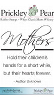 Mothers - Red Rubber Stamp
