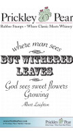 Withered Leaves - Red Rubber Stamp