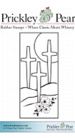 Three Crosses - Red Rubber Stamp
