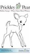 Deer - Red Rubber Stamp