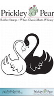 Love Swans - Red Rubber Stamps