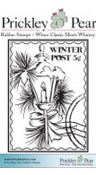 Winters Glow Postage Stamp - Red Rubber Stamp