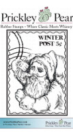 Winter Post - Red Rubber Stamp