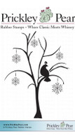 Patridge & Snowflake Tree - Red Rubber Stamp
