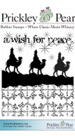 A Wish for Peace - Red Rubber Stamp