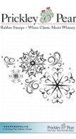 Snowflake ATC Flourish - Red Rubber Stamp