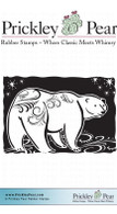 Flourished Polar Bear - Red Rubber Stamp