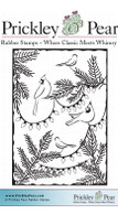 Holiday Birds - Red Rubber Stamp