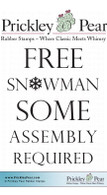 Free Snowman - Red Rubber Stamp