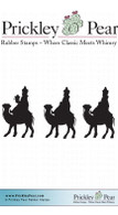 3 Wise Men Silhouettes - Red Rubber Stamp