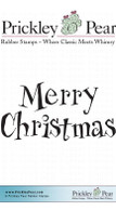Merry Christmas 2 - Red Rubber Stamp