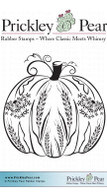 Dandelion Pumpkin - Red Rubber Stamp