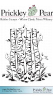 Cardinals & Birch Trees - Red Rubber Stamp