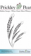 Wheat Stalks - Red Rubber Stamp