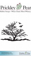 Spooky Tree - Red Rubber Stamp