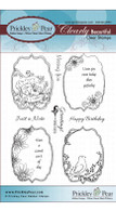 Spring Flourished Oval - Clear Stamp Set