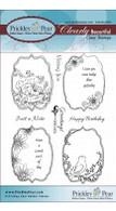Spring Flourished Oval - Clear Stamp Set
