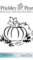 Pumpkin in Grass - Red Rubber Stamp
