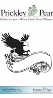 Eagle & Banner - Red Rubber Stamp