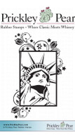 Lady Liberty - Red Rubber Stamp