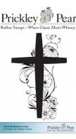 Spring Cross - Red Rubber Stamp