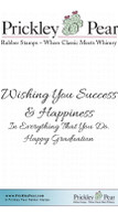 Wishing You Success - Red Rubber Stamp