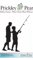 Fishing with Dad - Red Rubber Stamp