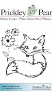 Sassy with Flowers - Red Rubber Stamp
