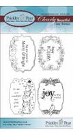 Flourished Oval 3 Holidays - Clear Stamp Set