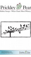 Birds on a Wire - Red Rubber Stamp