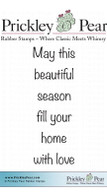 Fill Your Home - Red Rubber Stamp