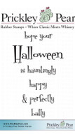 Hope Your Halloween - Red Rubber Stamp