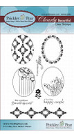 Scalloped Oval - Clear Stamp Set