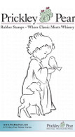 Child with Lamb - Red Rubber Stamp