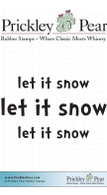 Let it Snow - Red Rubber Stamp