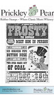 Frosty Headlines - Red Rubber Stamp