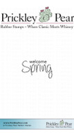 Welcome Spring - Red Rubber Stamp
